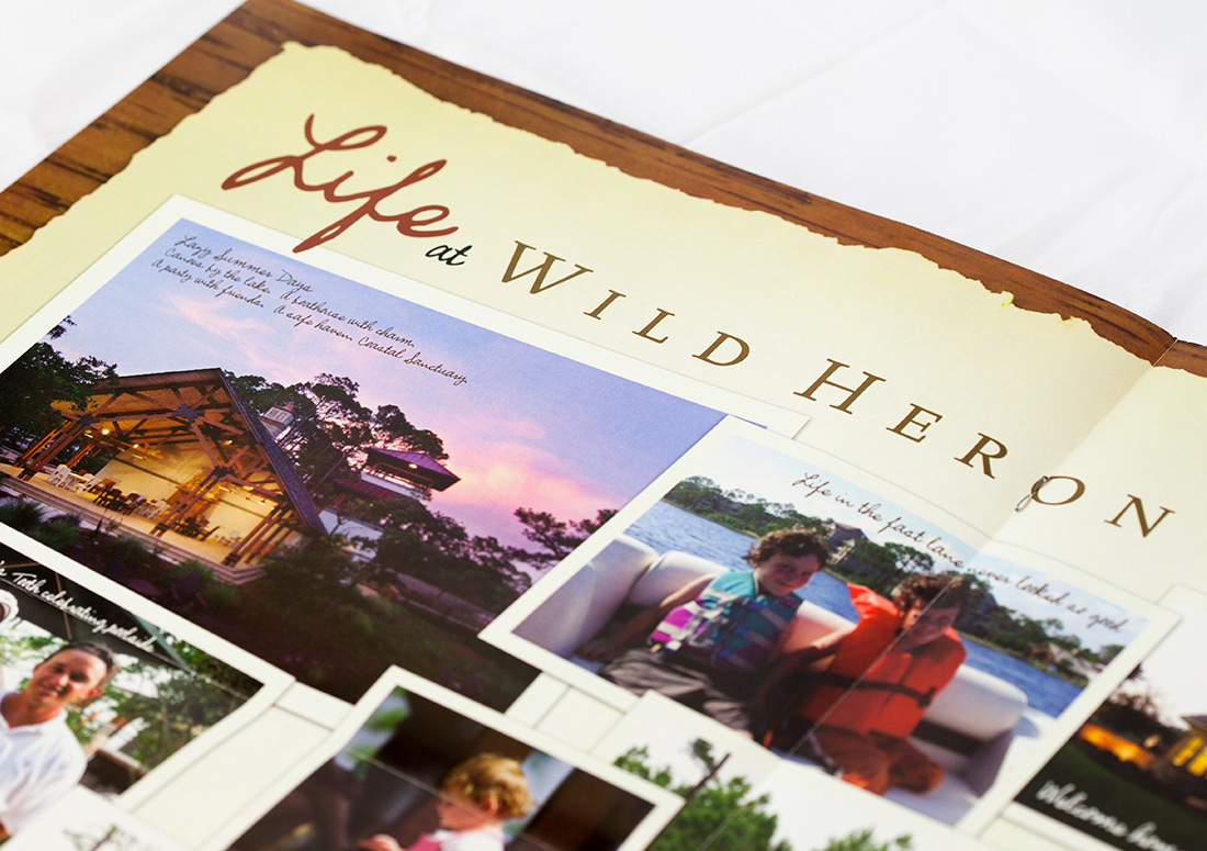 Wild Heron Traditions Brochure design branding