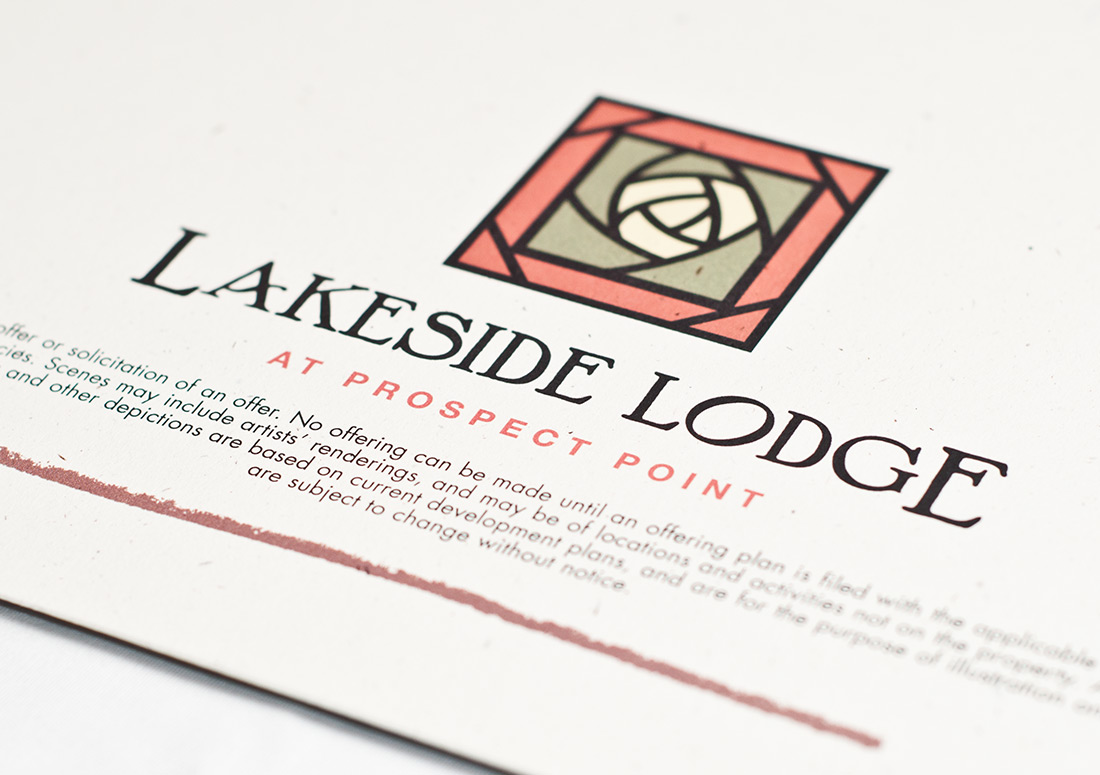 Wild Heron Lakeside Lodge Brochure branding design