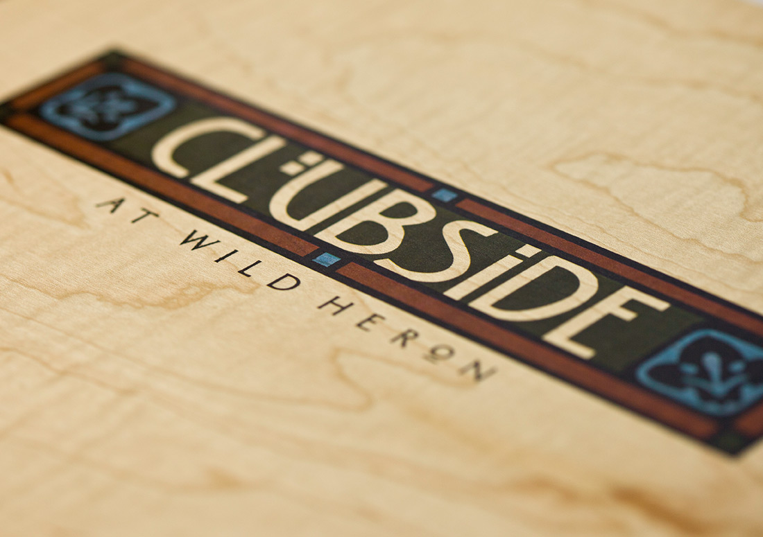 Wild Heron Clubside Book publishing design