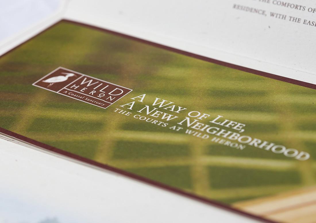 Wild Heron The Courts Brochure design branding