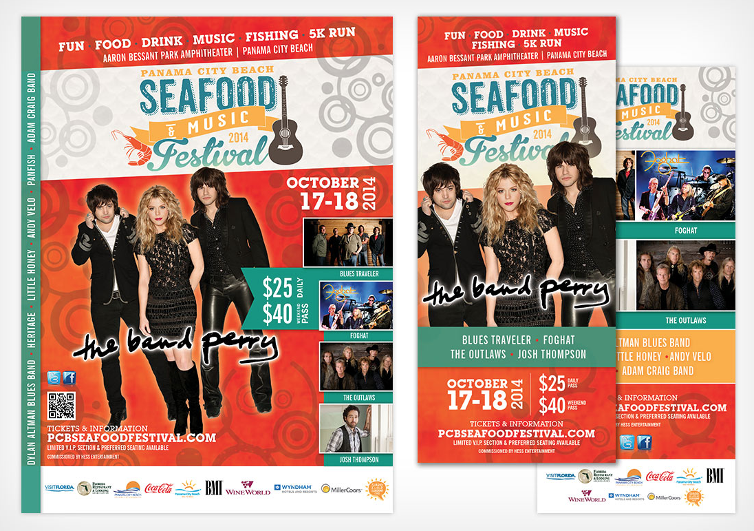 Panama City Beach Seafood and Music Festival Flyer