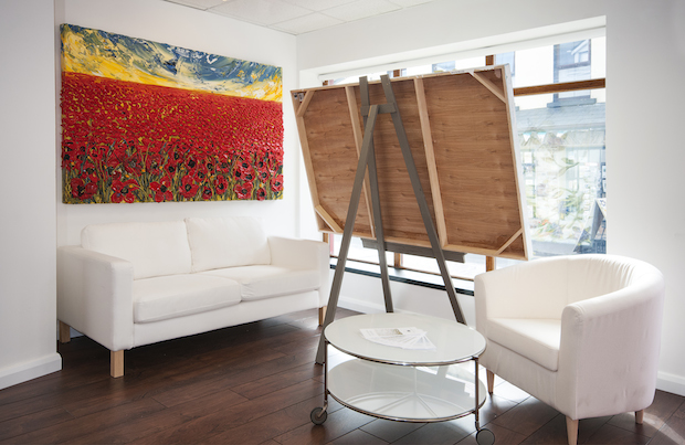 Inside The Idea Boutique Ireland Office Justin Gaffrey Painting