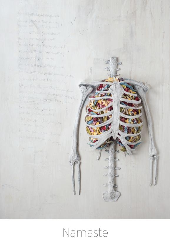 Namaste painting and poem by Justin Gaffrey