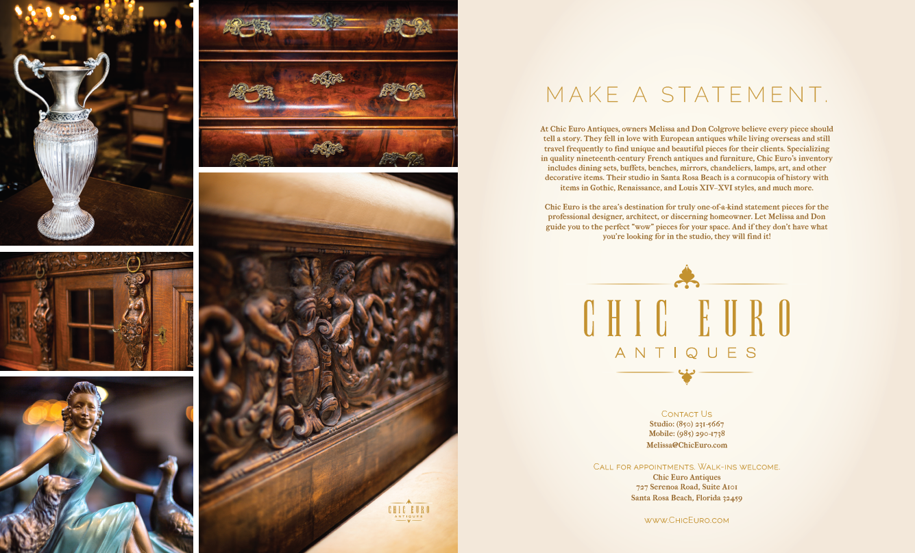 Chic Euro Ad design by The Idea Boutique