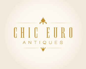 Chic Euro Antiques in Florida Logo Design The Idea Boutique
