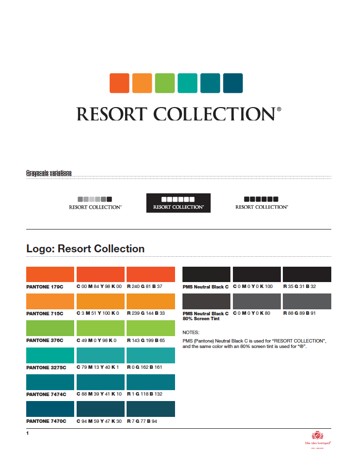 Resort Collection Marketing Guidelines Presented by The Idea Boutique