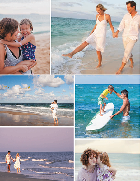 Mexico Beach Florida Inspiration Board