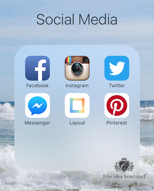 Social Media iPhone Screen