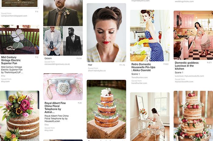 VIE Magazine Faux Wedding Pinterest Board