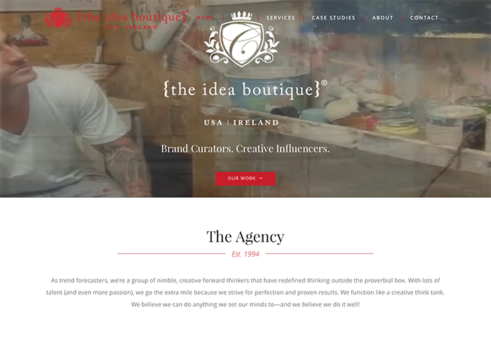 The Idea Boutique's website