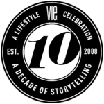 10 year medallion designed by the idea boutique for vie magazine
