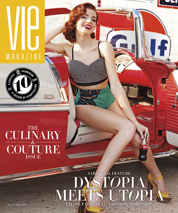 VIE Magazine 2017 Culinary and Couture Issue with SWFW winning model Bella deLeon