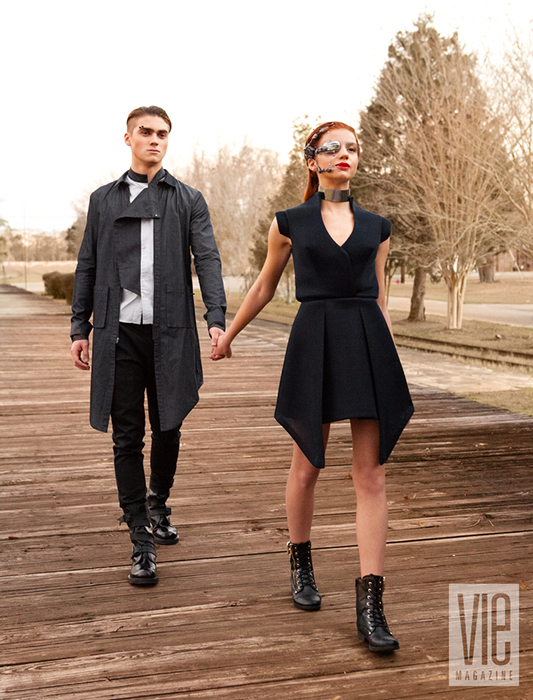 Jordan Canamar and Bella deLeon walks into the future hand in hand in VIE magazine's photo shoot
