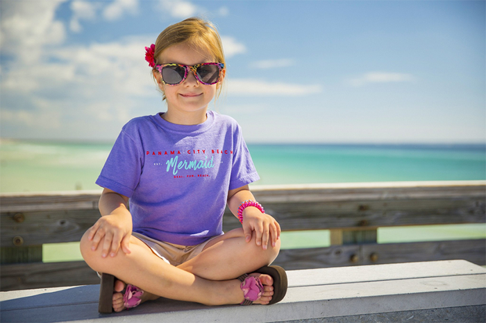 Beach Mermaid t-shirt The Idea Boutique designed for Visit Panama City Beach
