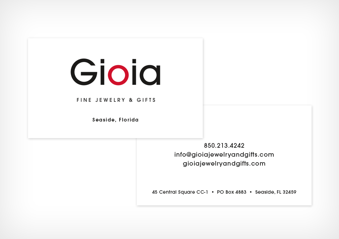 Gioia Fine Jewelry Business Cards