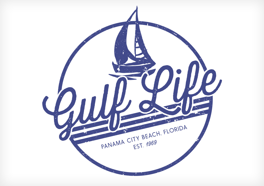gulf life design for panama city beach tshirt