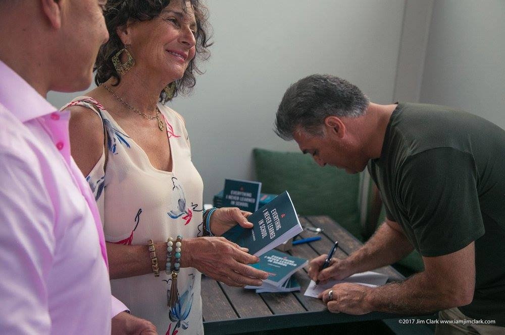 Darin Colucci signing his book Everything I Never Learned in School at DG + VIE event