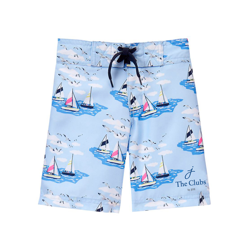 The Clubs by Joe logo on swim trunks