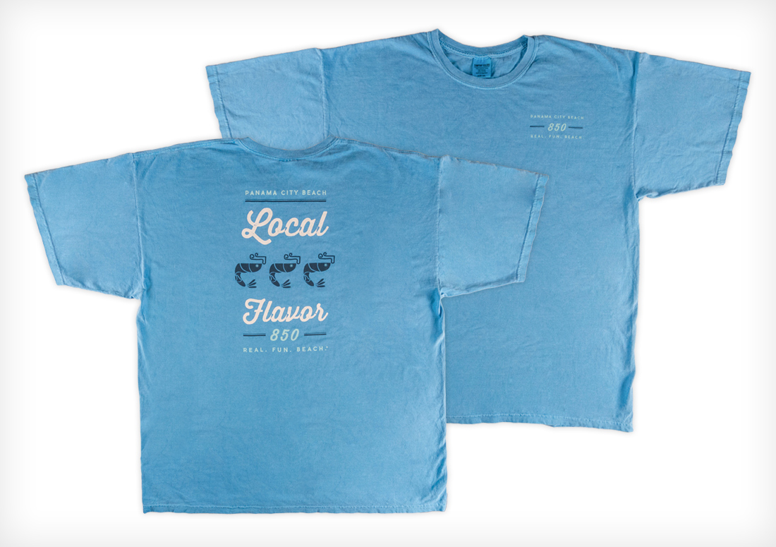 Panama City Beach CVB t-shirts, Local Flavor