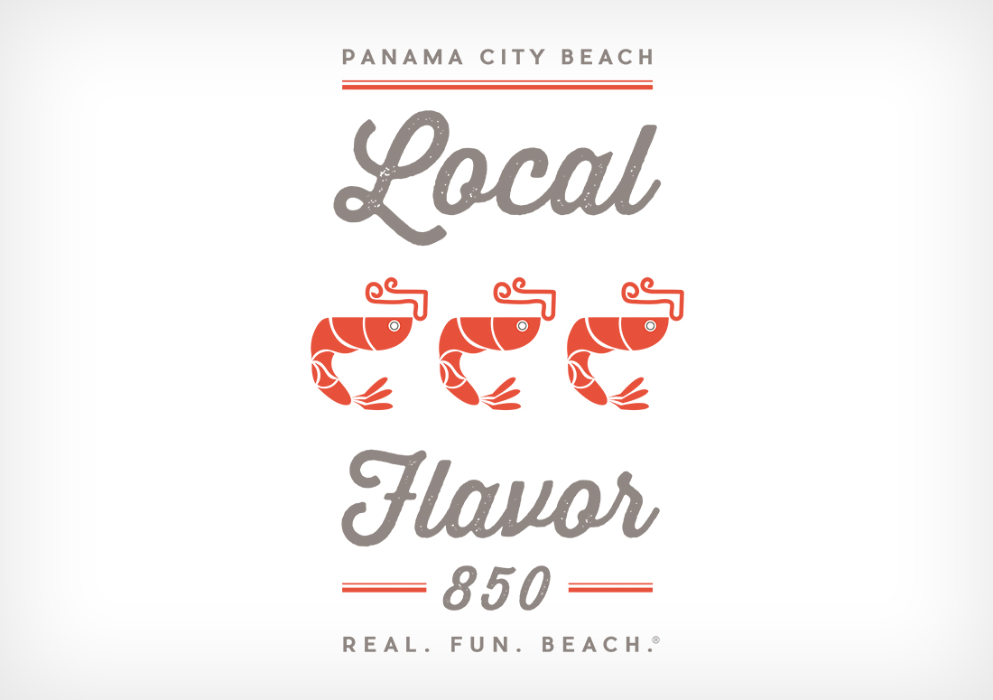 Local Flavor tshirt design Panama City Beach branding 2016