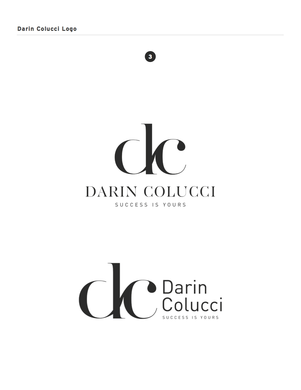 Darin Colucci Logo Options