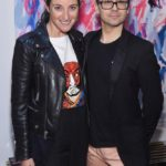 Micaela Erlanger and Christian Siriano attend the opening of Christian Siriano's new store, The Curated, hosted by Alicia Silverstone and sponsored by VIE Magazine on April 17, 2018, in New York City.