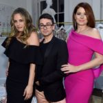 Alicia Silverstone, Christian Siriano, and Debra Messing attend the opening of Christian Siriano's new store, The Curated, hosted by Alicia Silverstone and sponsored by VIE Magazine on April 17, 2018, in New York City.