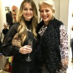 Hairstylist Brooke Miller and Dorinda Medley at the opening of Christian Siriano's new store, The Curated NYC, hosted by Alicia Silverstone and sponsored by VIE Magazine on April 17, 2018, in New York City.