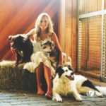 Laurie Hood Editorial Feature September/October 2014 Animal Issue - Laurie with her dogs