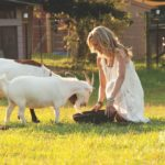 Laurie Hood Editorial Feature September/October 2014 Animal Issue - Laurie with goats