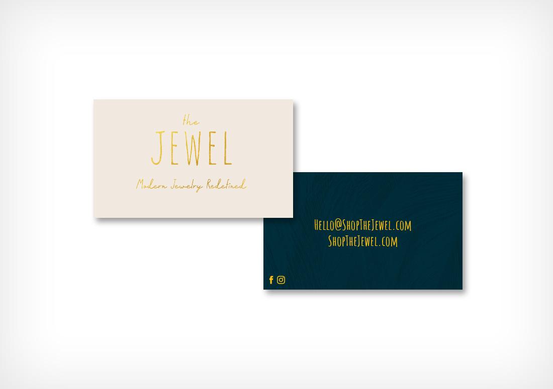 Gold Foil Business Cards by The Idea Boutique