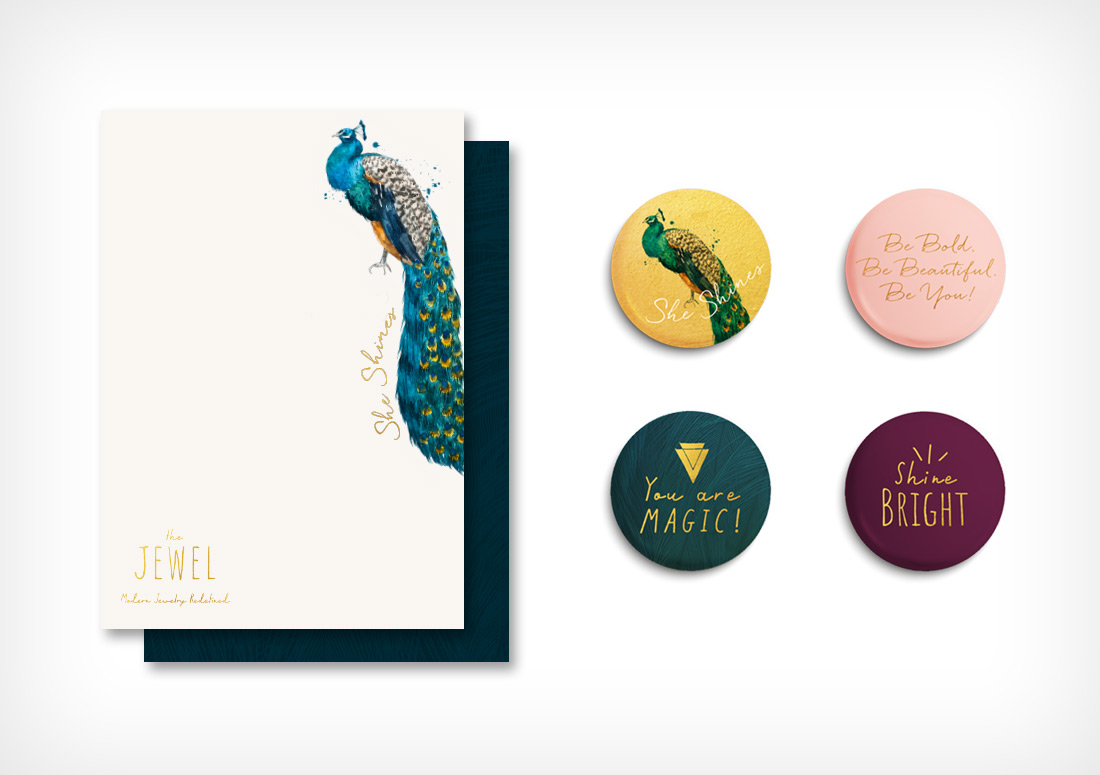 Note cards and Buttons by The Idea Boutique