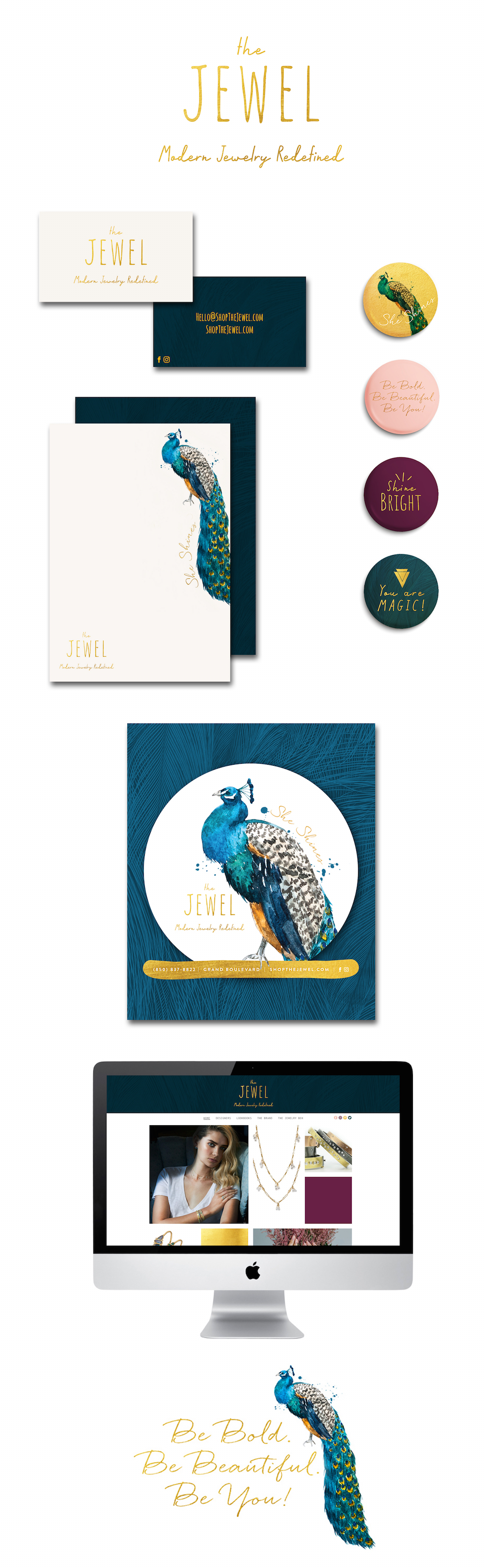 The Jewel Grand Boulevard Miramar Beach Florida Branding Package by The Idea Boutique