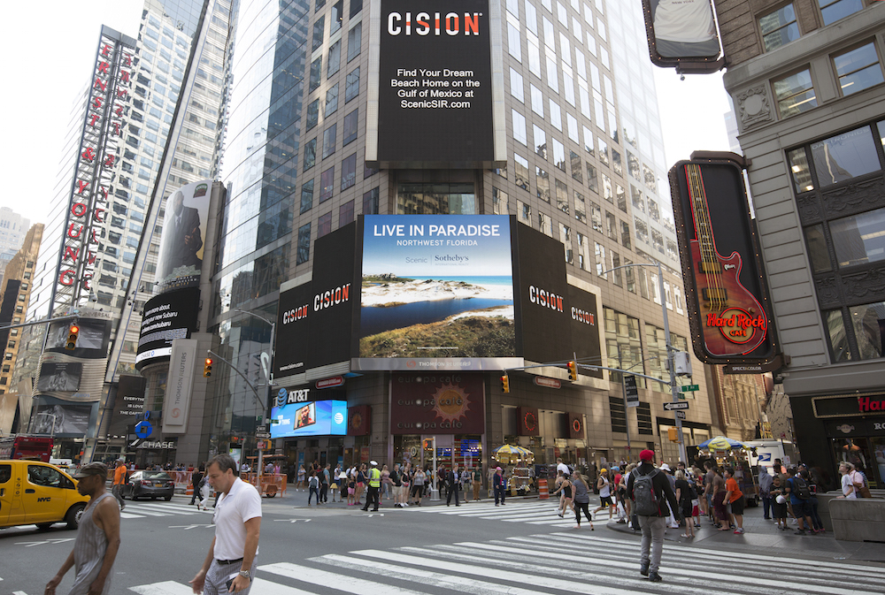 Scenic Sothebys International Realty Times Square Billboard July 2018