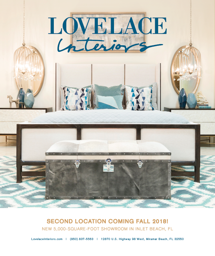 Lovelace Interiors ad design by The Idea Boutique