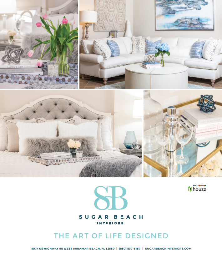 Sugar Beach Interiors print ad design by The Idea Boutique