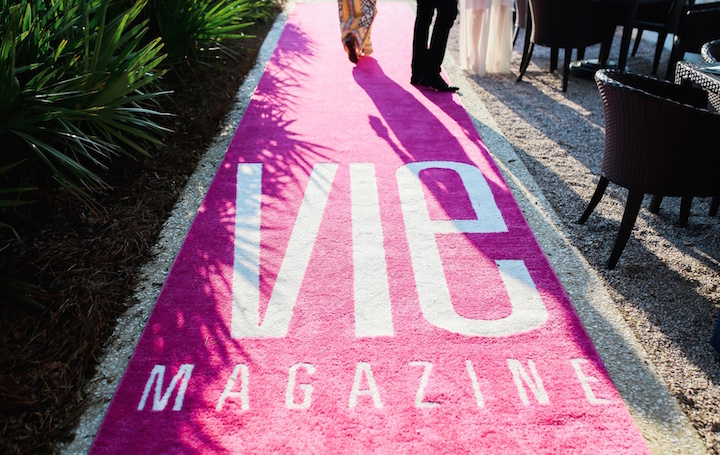 VIE magazine Pink Carpet designed by The Idea Boutique