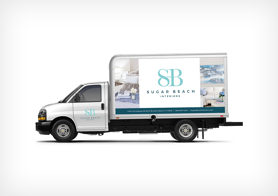 Sugar Beach Interiors truck wrap