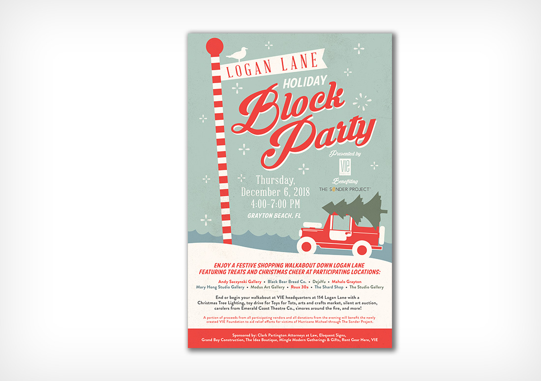 Logan Lane Holiday Block Party Poster