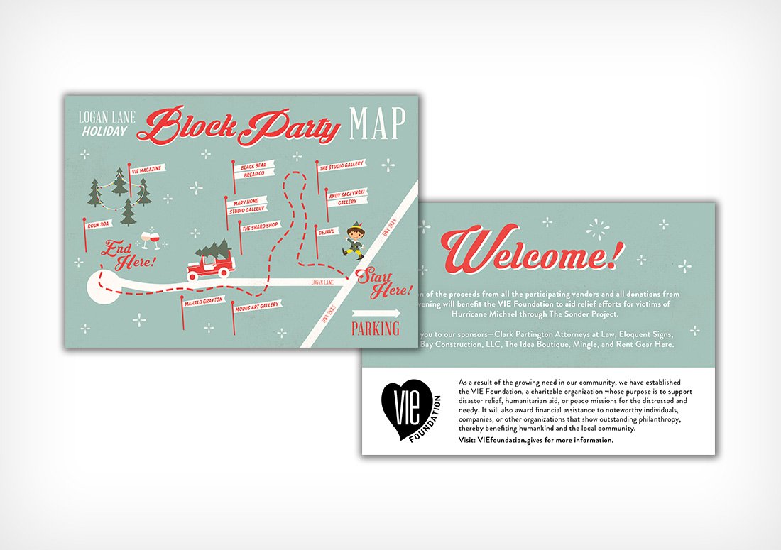 Logan Lane Holiday Block Party Map