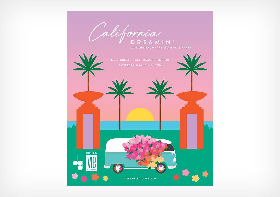 Digital Graffiti 2019, Alys Beach Florida, VIE + DG 2019 Pre-Party: California Dreamin' Branding