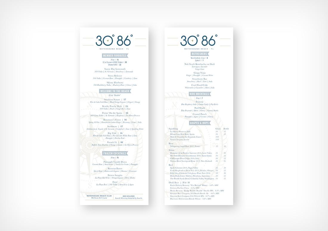 30 86 drink menu