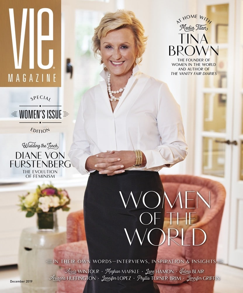 VIE Magazine, The Idea Boutique, VIE December 2019 Cover, Tina Brown, Women in the World