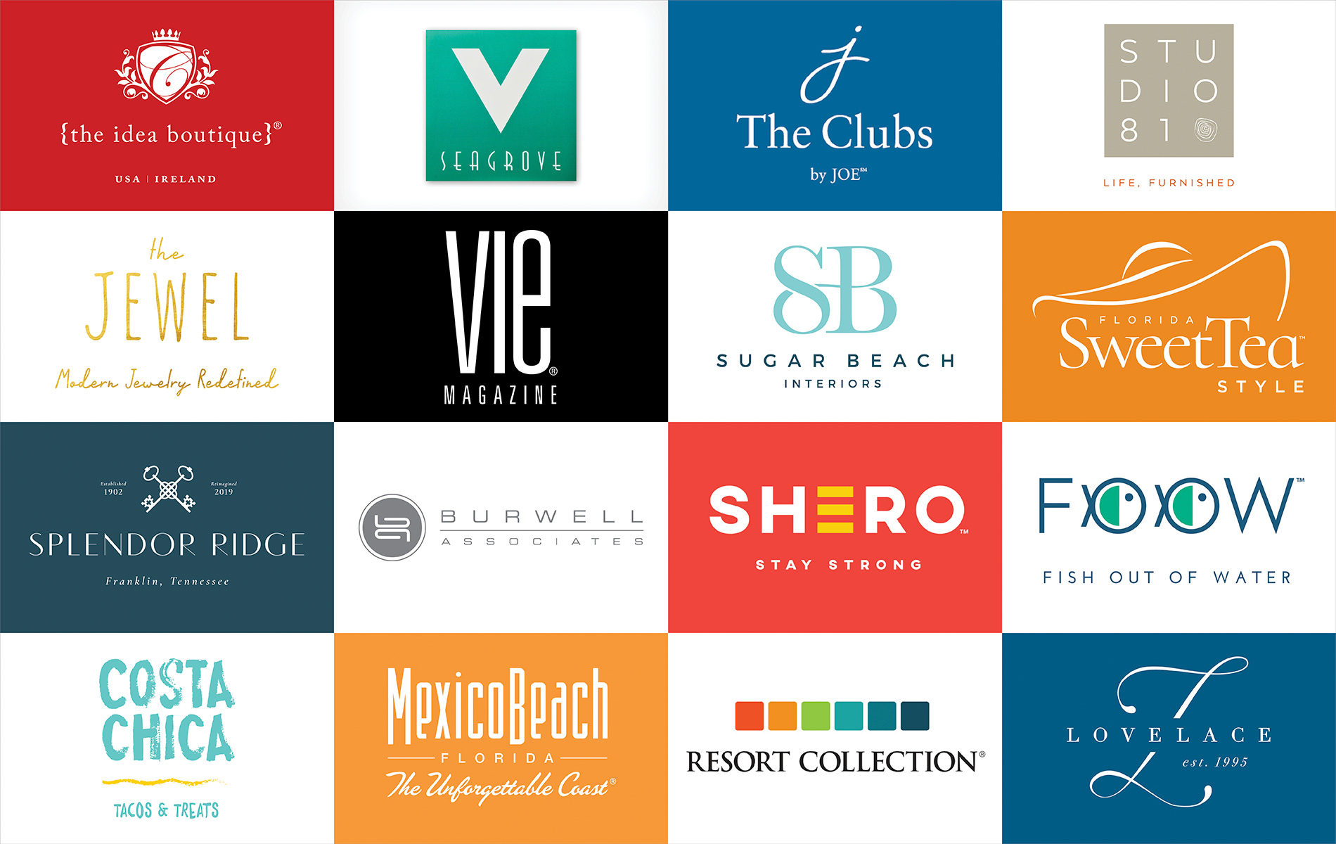 brand logos by The Idea Boutique agency